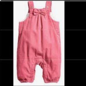 H&M Pink Baby Girls 6-9 Months Corduroy Overalls